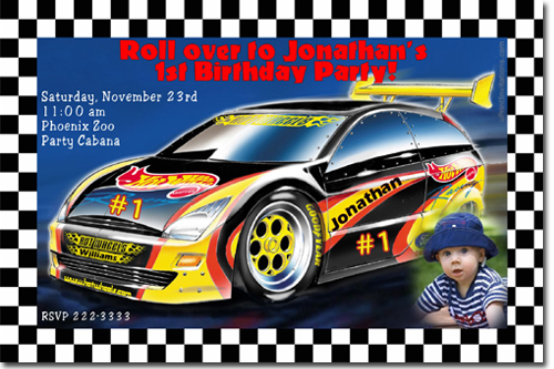 hot wheels birthday invitations candy