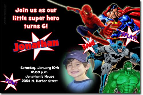 spiderman birthday invitations super