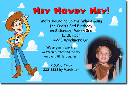 toy story 4 birthday party invitations