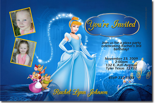 birthday invitations and party favors