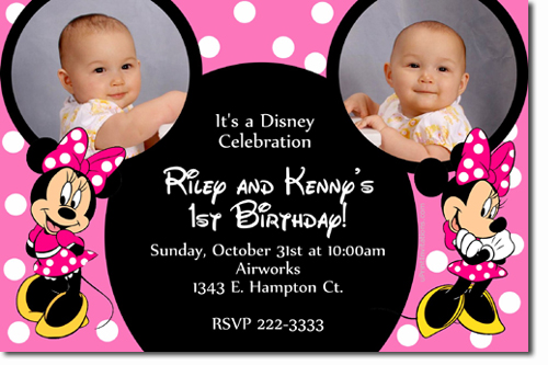 Minnie Mouse Birthday Invitations Candy Wrappers Thank You Cards Candy Bag Labels