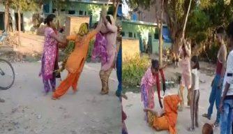 बीच सड़क महिलाओं में हुई जमकर मारपीट, Video वायरल - UP Samachar