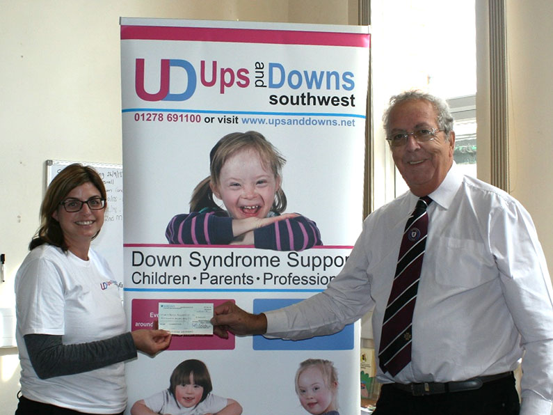 Provincial Priory of Somerset Cheque Presentation Ups and Downs Southwest