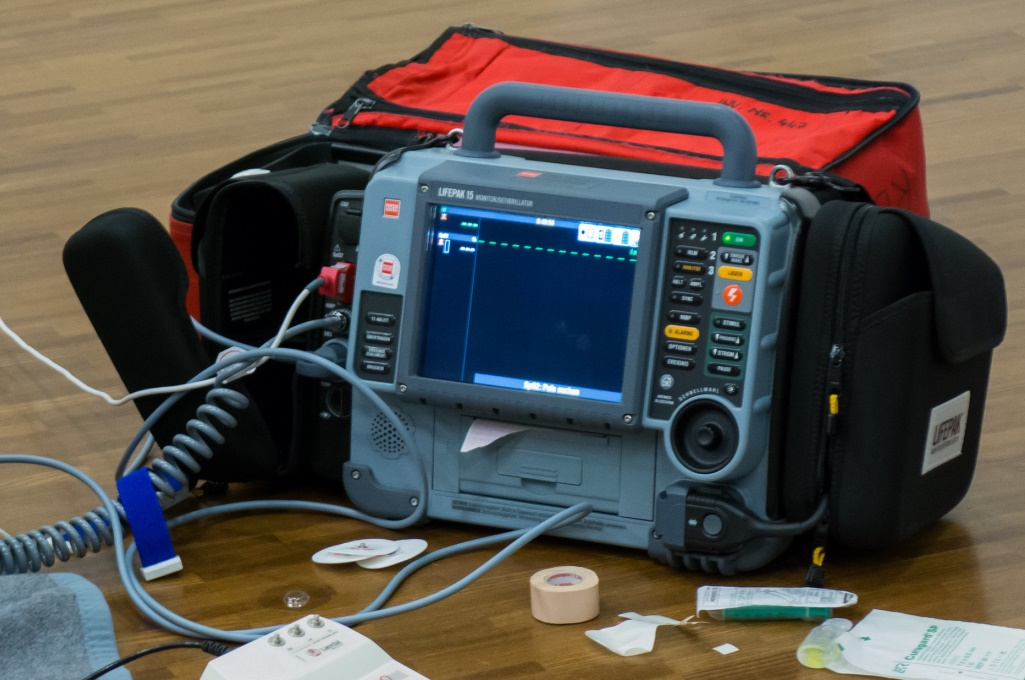 batteries with a heart in defibrillators