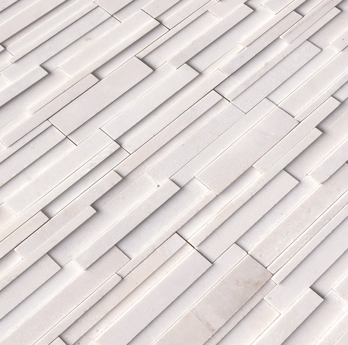 Arctic White 3d Ledger Panel 6 In X 24 In Honed Marble
