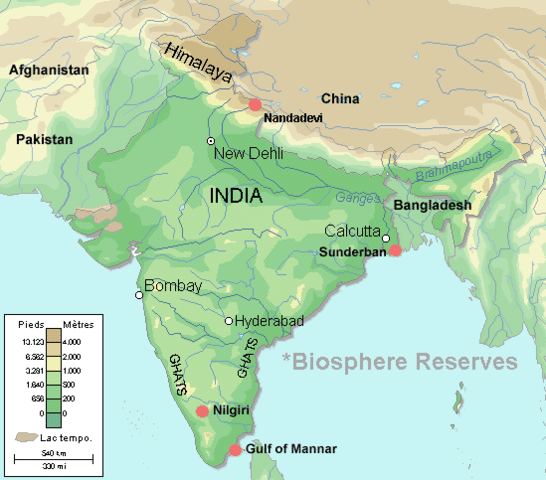 India Biosphere Reserve Location Map