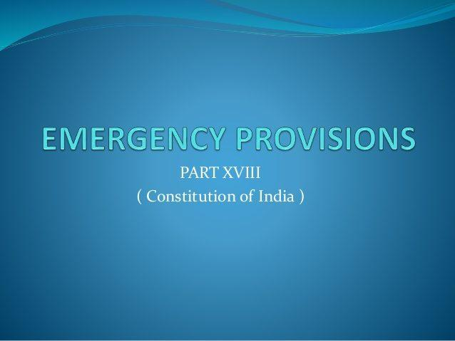 Emergency Provisions (Indian Polity Questions)