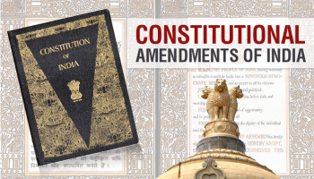 Amendments of the Constitution of India