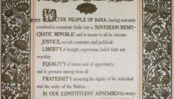 Indian Preamble Original