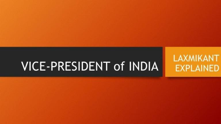 Vice President-indian-polity