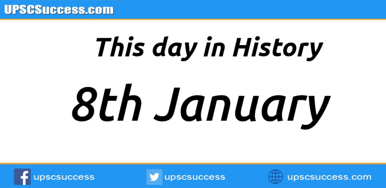 8th January This day in History