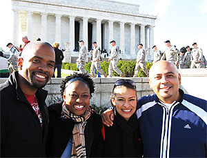 Andrew & Patrique Smellie welcome Carlos & Lucy Mejia to Washington DC!