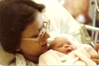 Our mom Cindy and baby Leah, 1982
