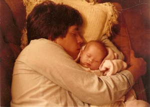 Snoozing with Daddy_age 5 weeks0001