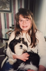 Leah and our childhood dog, Madison
