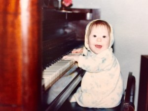 Leah at the beginning of her musical journey