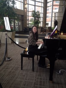 Here I am doing what I love most to do at Lakeside Hospital and that is to play piano for all of the people.