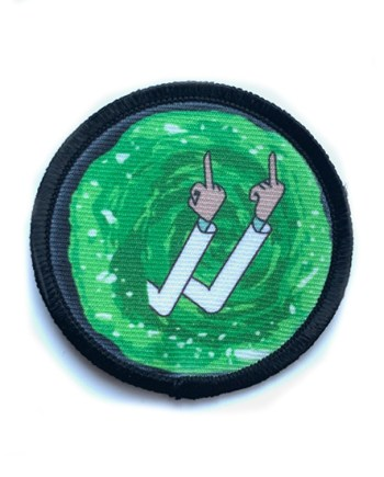 Rick & Morty Middle Finger Patch