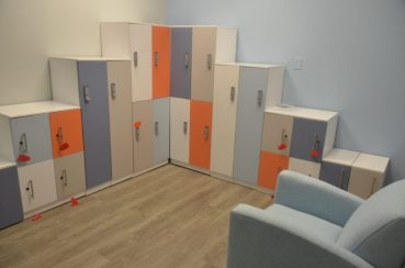 Secure storage inside of iTech Valley Office Interiors