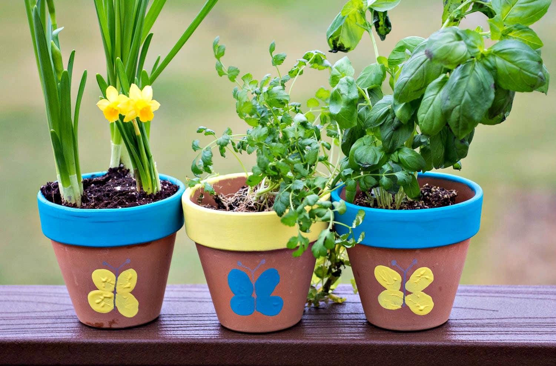 Thumbprint Flower Pot Upstate Ramblings