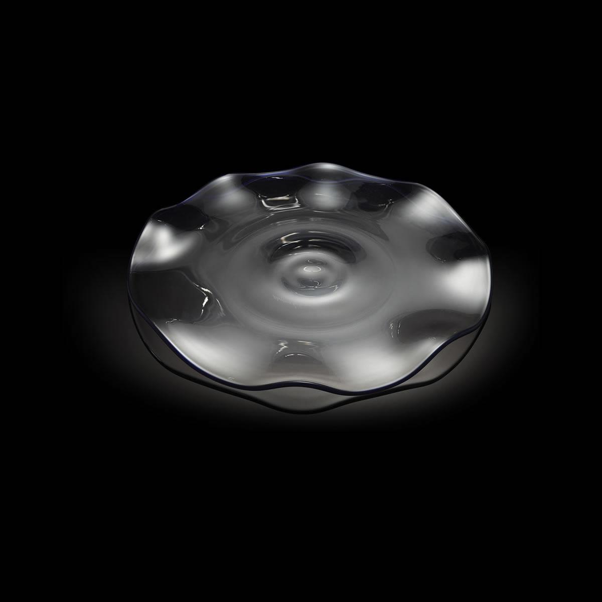 Onde piatto in vetro