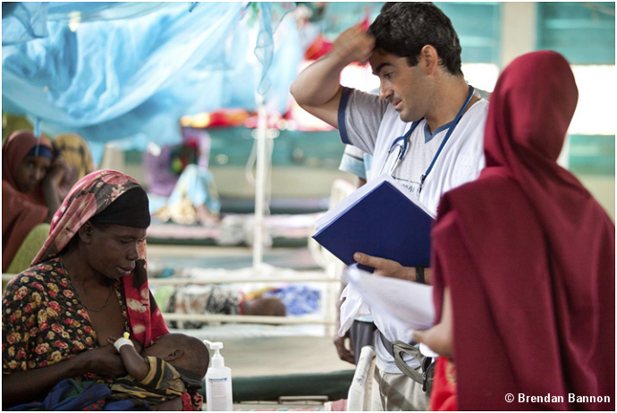MSF doctor at the Dabaab refugee camp.