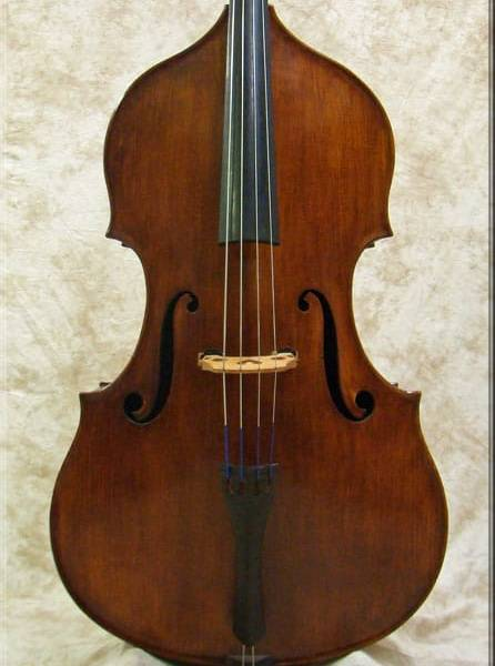 """SOLD: Seth Kimmel """"Milanese"""" Fully Carved Double Bass 2011"""