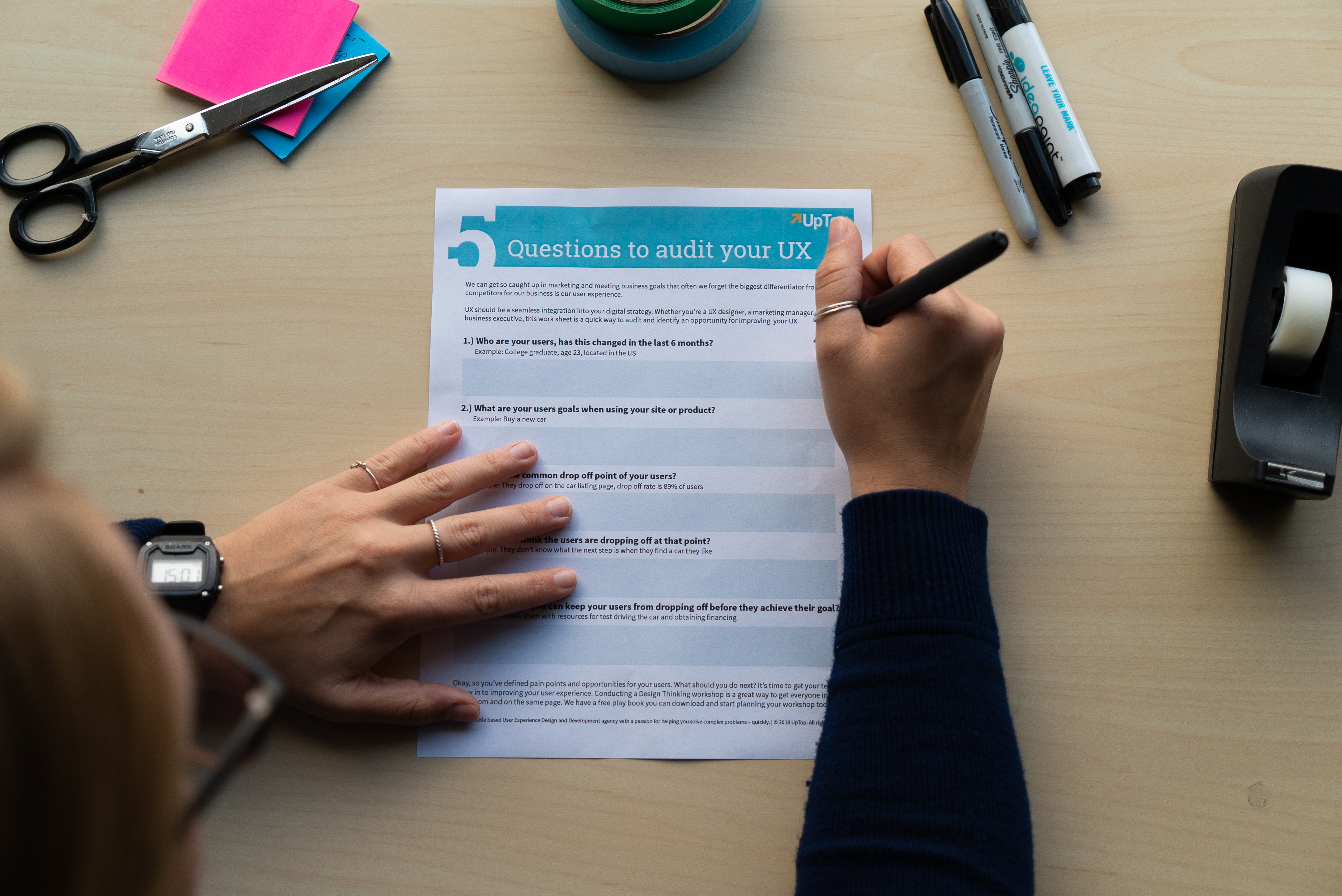 5 Questions To Audit Your Ux Worksheet