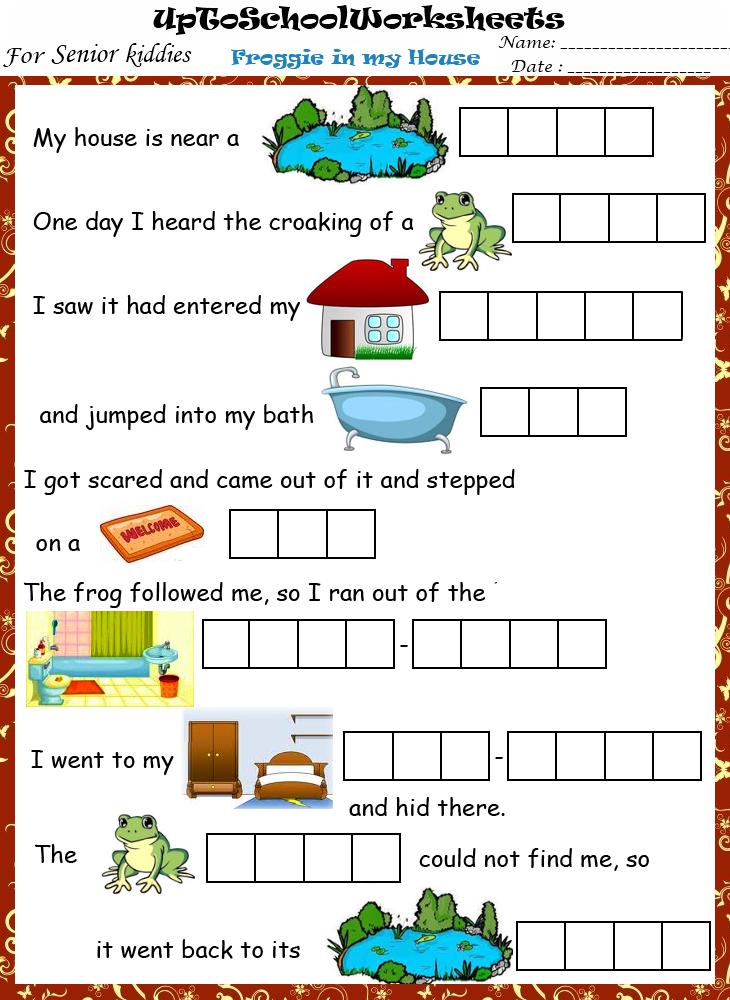 Grade Ukg English Reading Worksheets Cbse Icse School