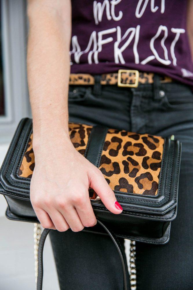 leopard bag and belt