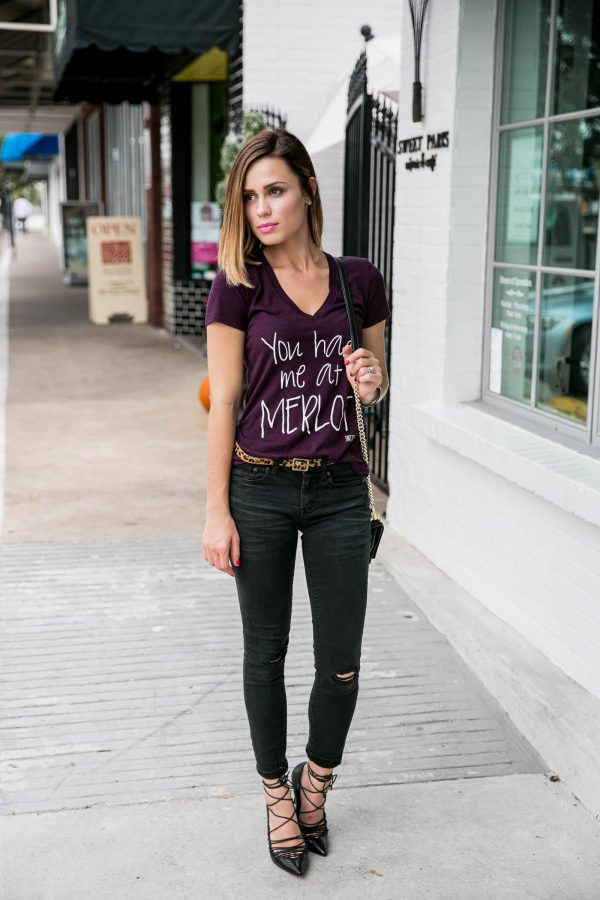 t-shirt and jeans outfit