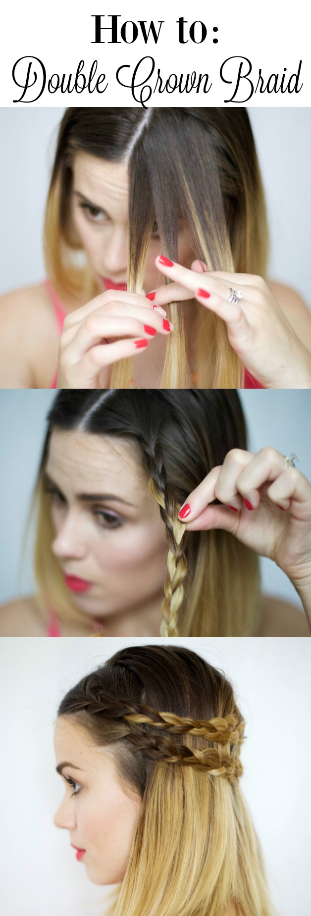 how to do a double crown braid