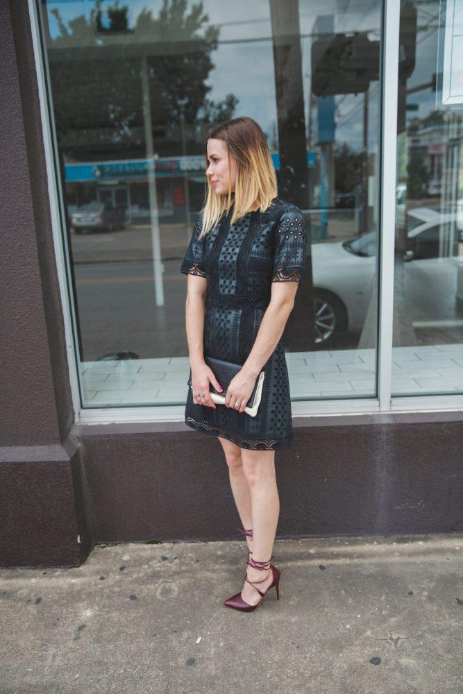 little black dress - self portrait dress