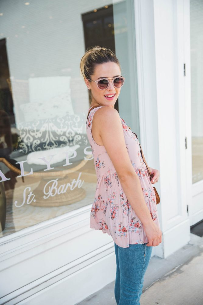 Floral top look | Summer outfit | Floral tops under $100