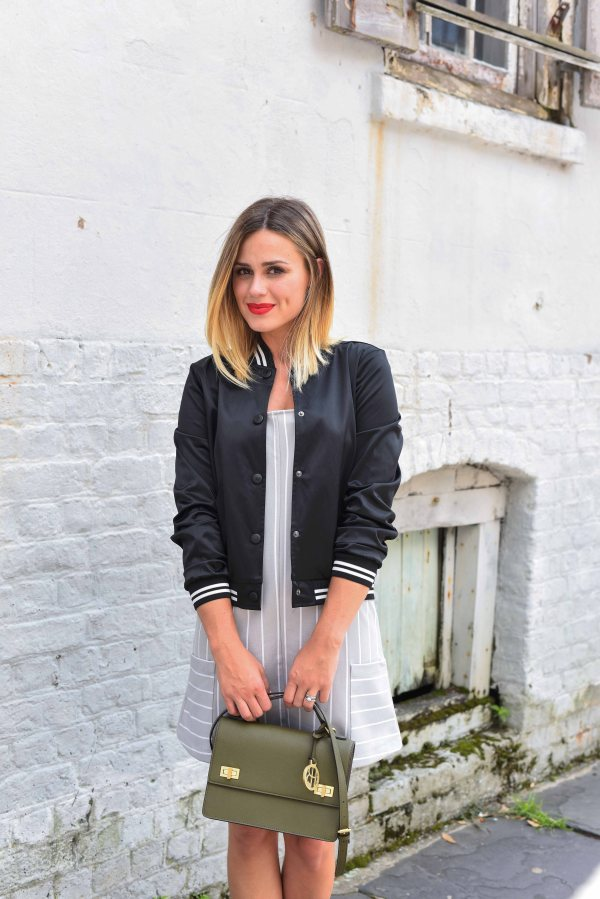 How to wear a Bomber Jacket | Bomber Jackets under $100 | Mommy Street Style | Uptown with Elly Brown