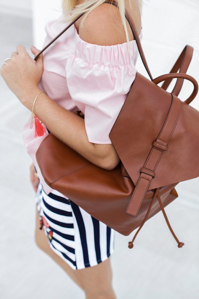 Why it's good to be a girl | Summer Chic look | Chic backpack | Pom-Pom Sandals | Uptown with Elly Brown