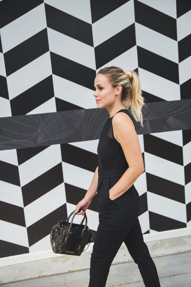 Black Jumpsuit | Christian Louboutin outfit | Uptown with Elly Brown