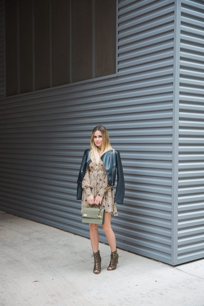 Fall Look | Leather Jacket Outfit | Lace Booties under $50 | Uptown with Elly Brown