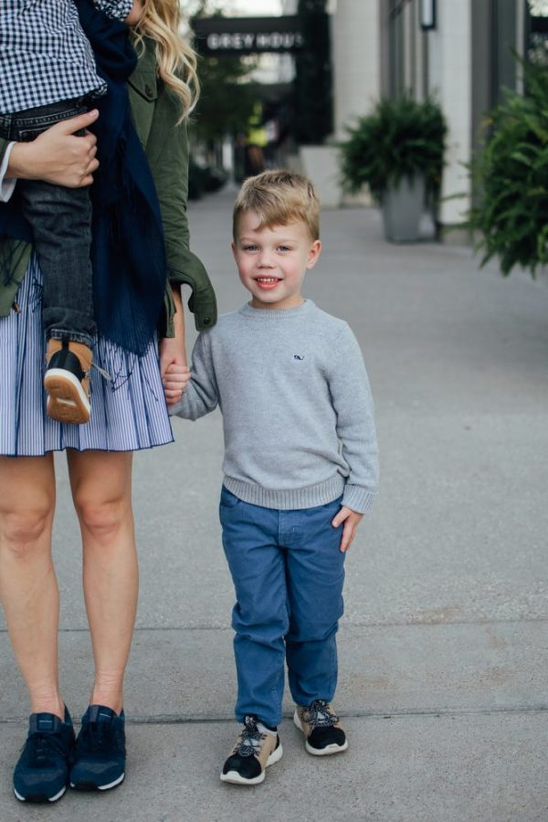 Raising kids to love   Mommy and me fall look with Vineyard Vines   Uptown with Elly Brown