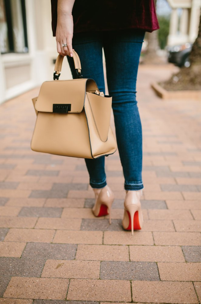 Velvet Blazer | Casual chic outfit | Street Style outfit | Uptown with Elly Brown