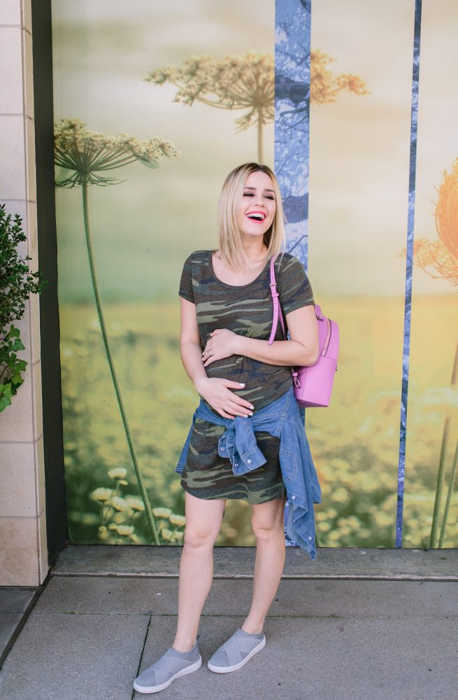Maternity outfit | Swing Dress | Casual Spring outfit | Uptown with Elly Brown