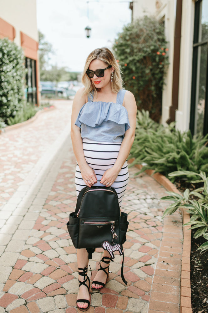 Chic Diaper bags | Spring outfit | Maternity Fashion | Maternity outfit | Uptown with Elly Brown