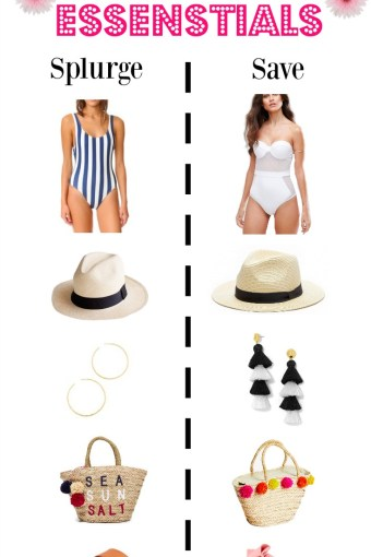 Summer Essentials, Splurge or Save