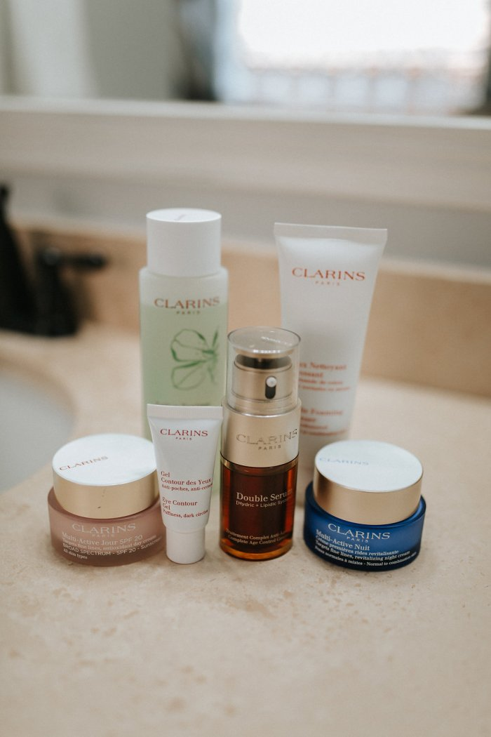 Young looking Skin | Clarins skincare routine | Clarins Double Serum Review | Uptown with Elly Brown