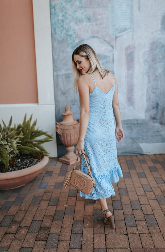 Blue lace dress | Maxi lace dress | Summer Dress outfit | Summer outfit ideas | Uptown with Elly Brown