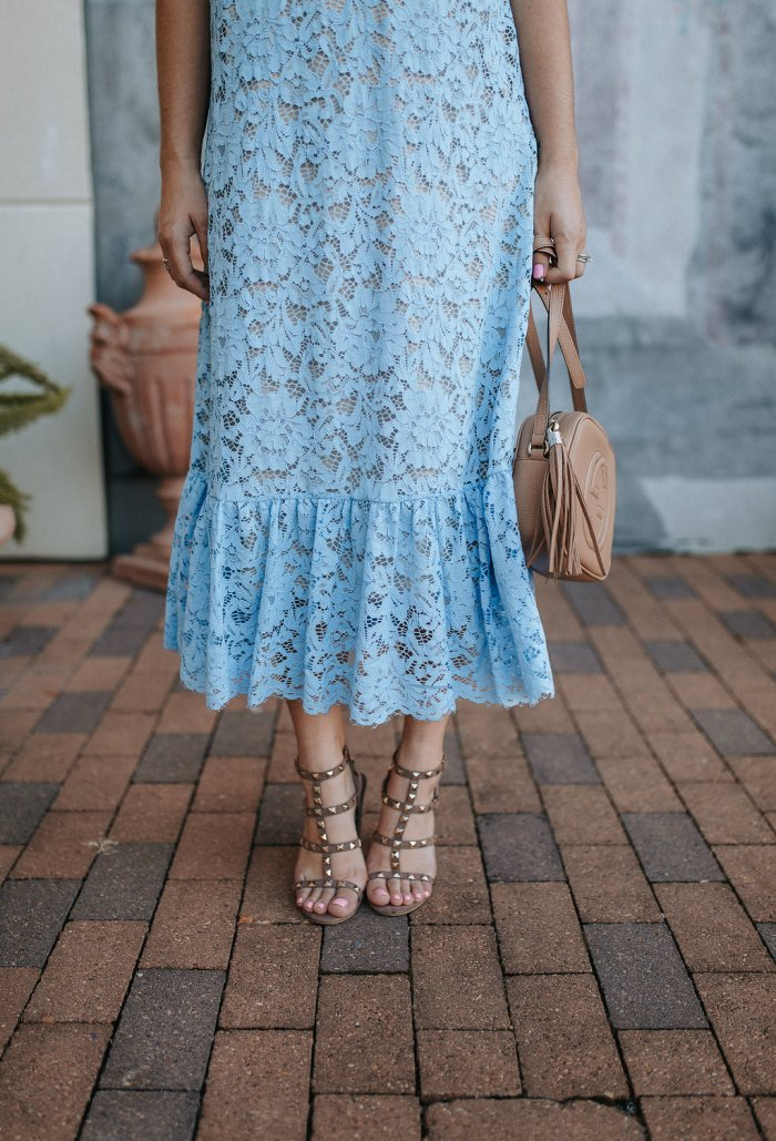Blue lace dress | Maxi lace dress | Summer Dress outfit | Summer outfit ideas | Valentino dupes | Uptown with Elly Brown