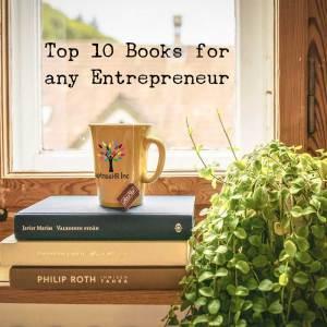 uptreehr human resources mug on books
