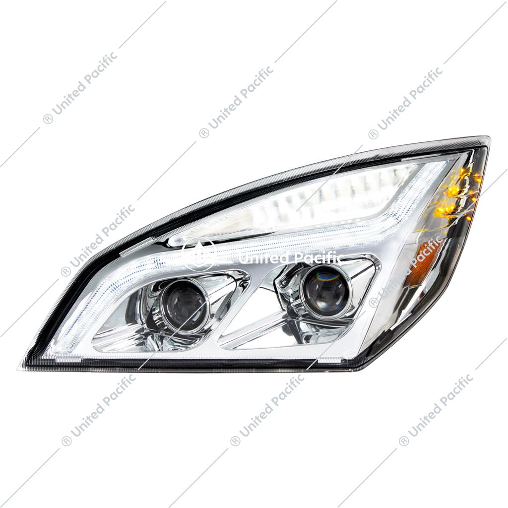 Chrome Led Projection Headlight W Led Position Light For