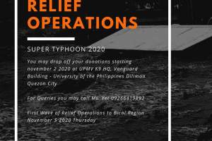 Bagyong Rolly Relief Operations