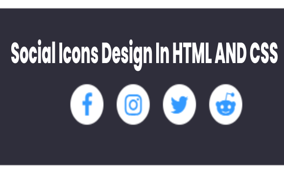 Social media icons buttons with amazing animation on hover using html & css